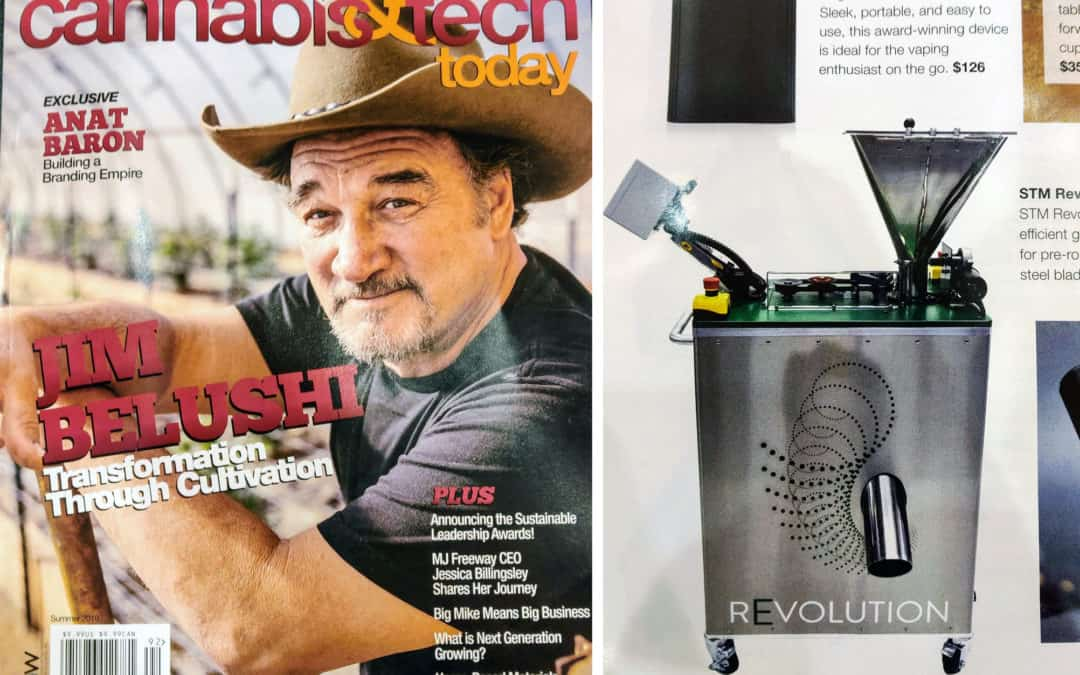 Cannabis & Tech Today Magazine's Summer 2019 Issue features the STM Revolution Grinder