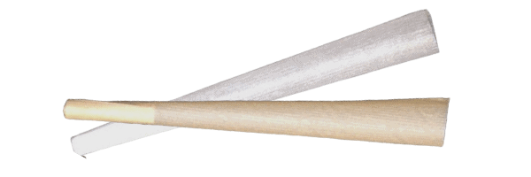 Classic White and Hemp joint papers side by side