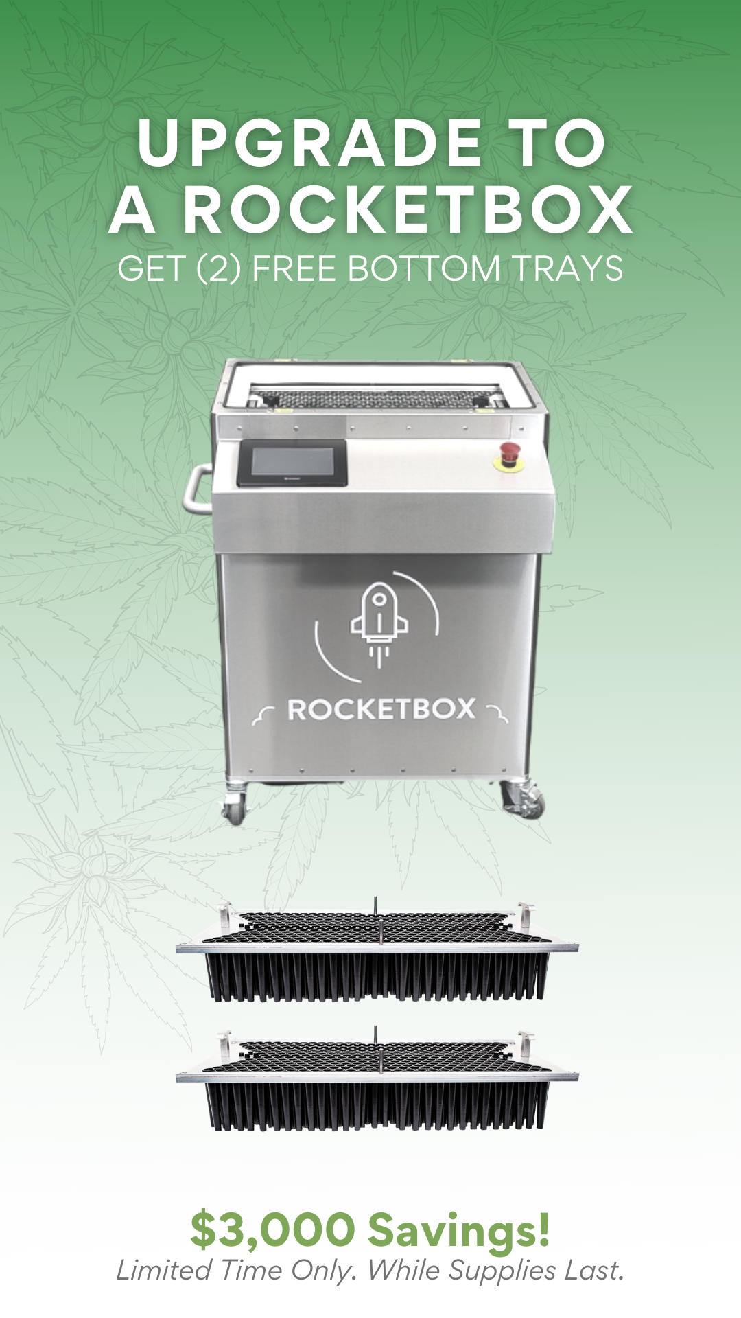 STM Canna RocketBox 2.0 Commercial Pre-Roll Machine